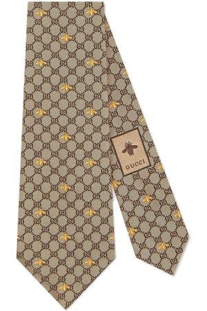 Gucci Cravatta con api GG - Toni neutri