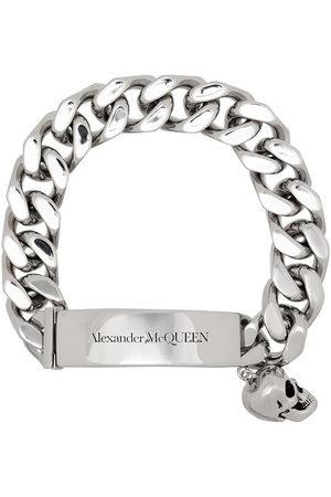 Alexander McQueen Braccialetto con pendente a teschio