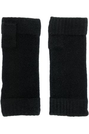 N.PEAL Uomo Guanti - Guanti di maglia senza dita