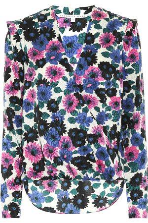 VERONICA BEARD Blusa a stampa floreale in seta stretch