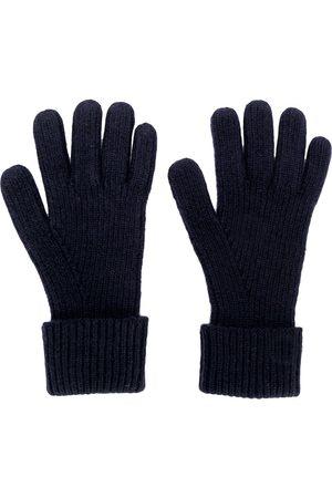 N.PEAL Guanti di maglia con design a coste