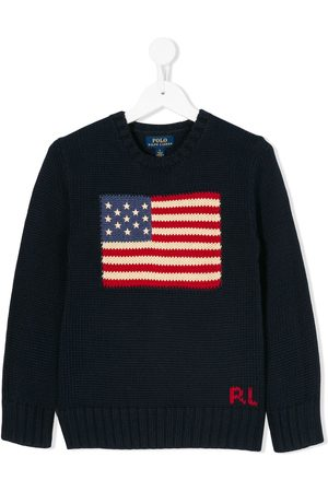 Ralph Lauren Maglione con motivo bandiera Usa - Di colore