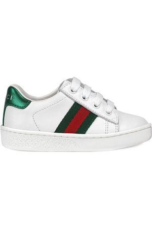 Gucci Sneaker bassa in pelle con dettaglio Web - Di colore