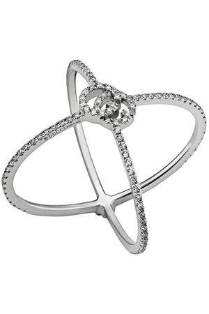 Gucci Anello GG Running X con diamanti