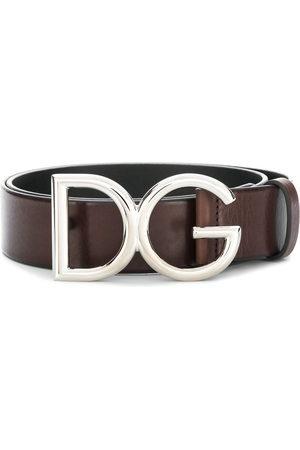 Dolce & Gabbana Uomo Cinture - Cintura con fibbia con logo