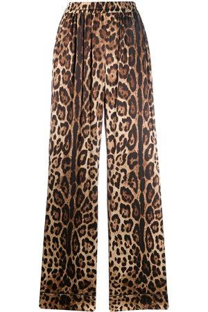Dolce & Gabbana Pantaloni dritti leopardati - Color carne