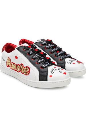 Dolce & Gabbana Sneakers - Sneakers con motivo Amore con lustrini - Di colore
