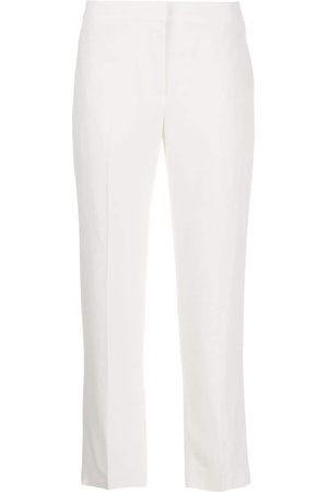 Alexander McQueen Pantaloni sartoriali crop - Di colore