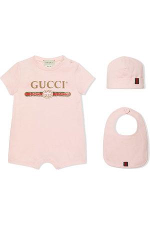 Gucci Body e tutine - Set tutina bavaglino e berretto con logo