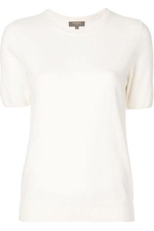 N.PEAL T-shirt con girocollo - Toni neutri