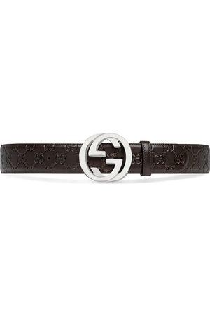 Gucci Uomo Cinture - Cintura in pelle Signature