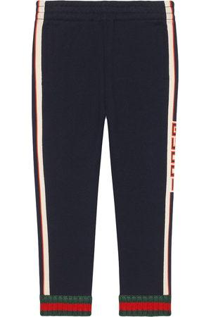 Gucci Kids Pantaloni con righe laterali