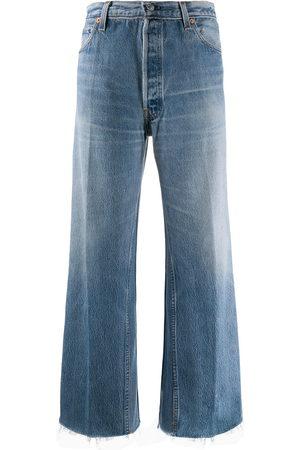 RE/DONE Jeans crop taglio straight