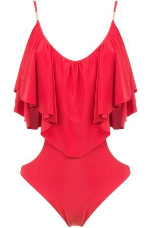 Brigitte Ruffled bodysuit - Di colore