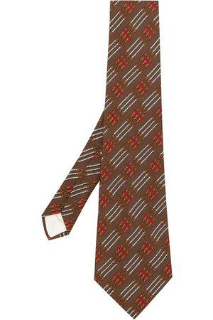 Hermès Pre-owned belt print tie