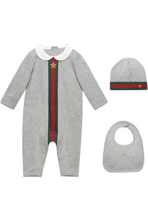 Gucci Set tutina, cappellino e bavaglino 'Baby Web'