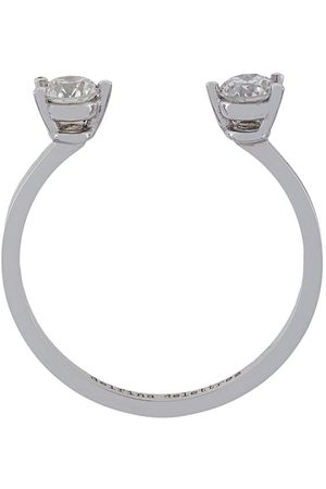 DELFINA DELETTREZ Anello 'Dots' con diamanti - Effetto metallizzato
