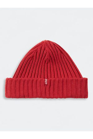 Levi's Ribbed Beanie / Brilliant Red