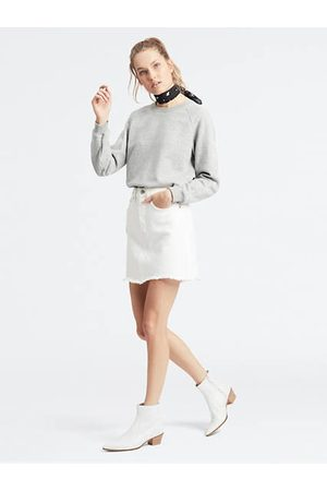 Levi's Deconstructed Iconic Boyfriend Skirt / Pearly White
