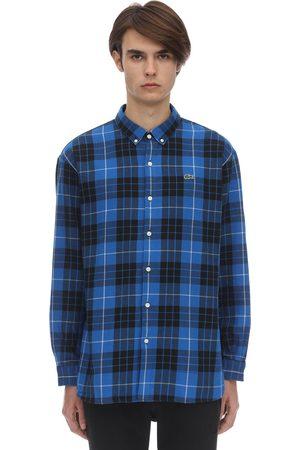 Lacoste Camicia In Cotone Tartan