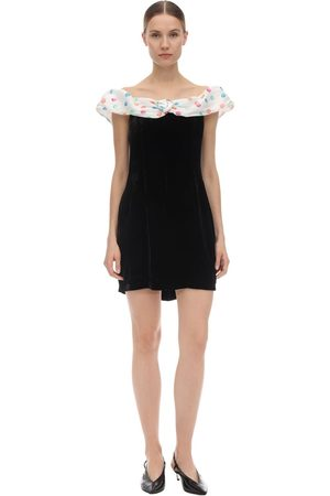 """RIXO London Abito Off-the-shoulder """"florence"""" In Velluto"""