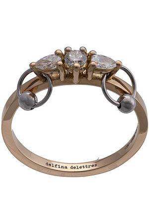 DELFINA DELETTREZ Anello Two-In-One in 18kt con diamanti
