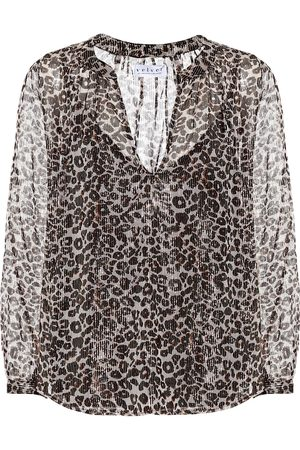 Velvet Blusa a stampa leopardo