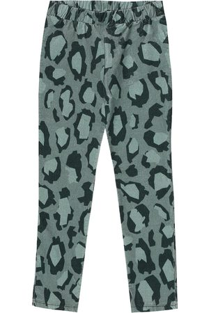 Kenzo Leggings in velluto a stampa leopardata