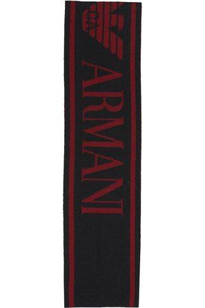 Emporio Armani Sciarpa in misto lana con logo