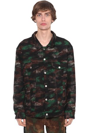 JUST DON Giacca Trucker In Misto Lana Camouflage