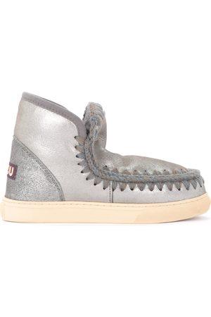 Mou Stivaletto Mini Eskimo Sneaker in montone effetto microglitter