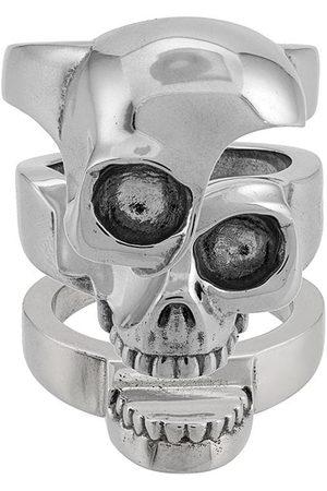 Alexander McQueen Anello con teschio - Effetto metallizzato