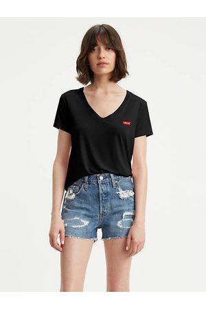 Levi's Donna T-shirt - Perfect V Neck Tee / Caviar