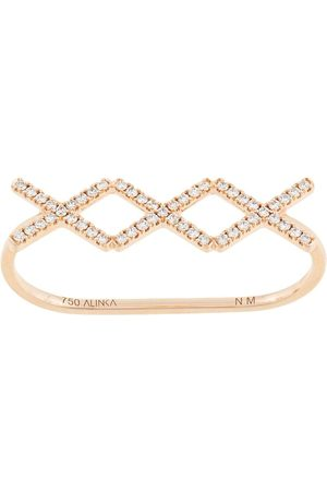 ALINKA Anello KATIA TRIO in rosa 18ct e diamante