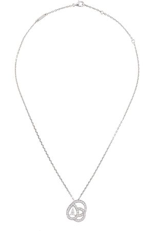 Boucheron Collana con pendente in oro bianco 18kt con diamanti