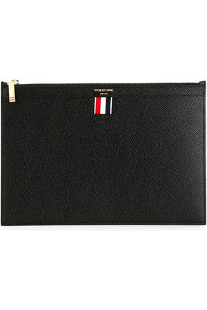 Thom Browne Porta tablet piccolo in pelle martellata