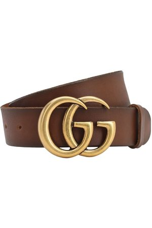 "Gucci Cintura ""gg"" In Pelle 40mm"