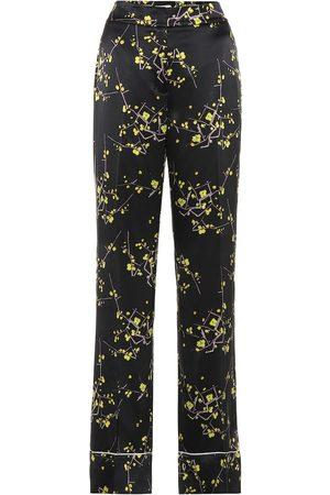 Dorothee Schumacher Pantaloni Cherry Blossom in raso di seta