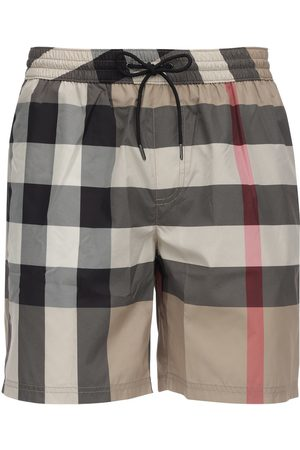 Burberry Shorts Mare In Techno Tessuto Check