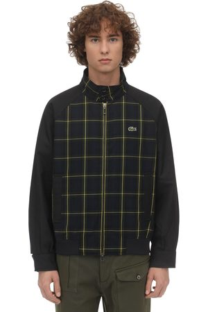 Lacoste Giacca In Misto Rayon Tartan