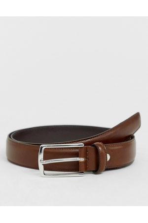 Jack & Jones Premium - Cintura in pelle marrone