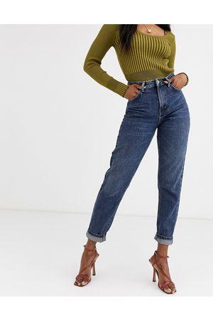 Topshop Mom jeans lavaggio scuro