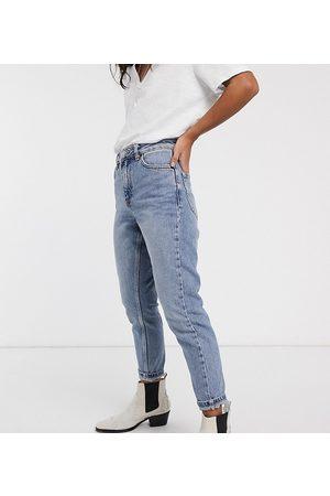 Topshop Mom jeans lavaggio candeggiato