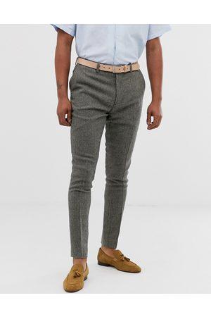 ASOS Pantaloni eleganti super skinny grigi a pied de poule