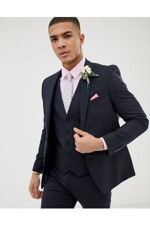 Burton Giacca skinny da abito da matrimonio navy