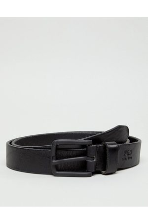 Jack & Jones Cintura in pelle nera