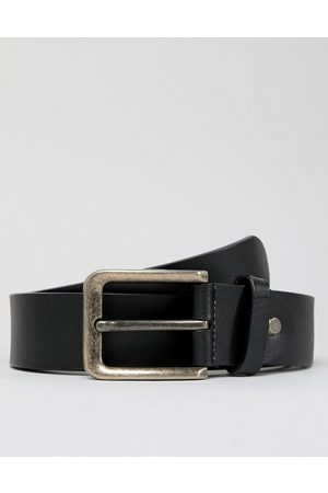 Only & Sons Cintura in pelle nera