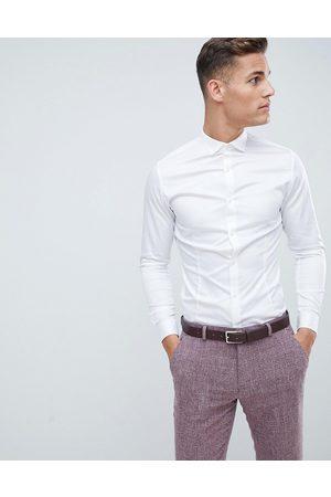 Jack & Jones Premium - Camicia super slim stretch elegante bianca