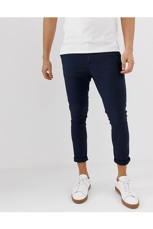 ASOS Chino cropped super skinny navy