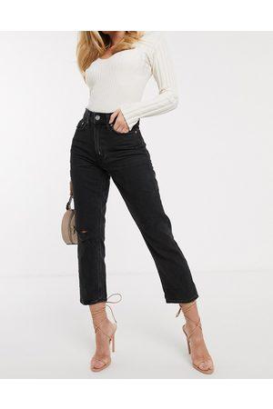 River Island Mom jeans invecchiati slavato